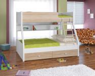 Двухъярусная кровать Golden Kids-3 (белый/дуб сонома)