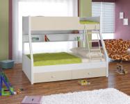 Двухъярусная кровать Golden Kids-3 (белый/бежевый)
