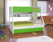 Двухъярусная кровать Golden Kids-3 (белый/зеленый)