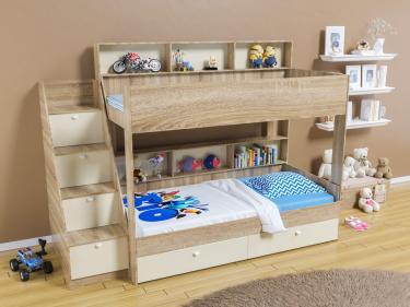 Двухъярусная кровать Golden Kids 10 (дуб сонома/бежевый)