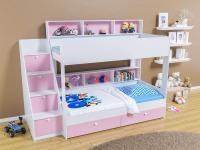 Двухъярусная кровать Golden Kids 10 (белый/розовый)