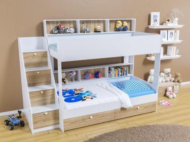 Двухъярусная кровать Golden Kids 10 (белый/дуб сонома)