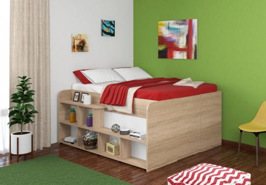 Двуспальная кровать Твист Ап (Twist Up) Дуб сонома