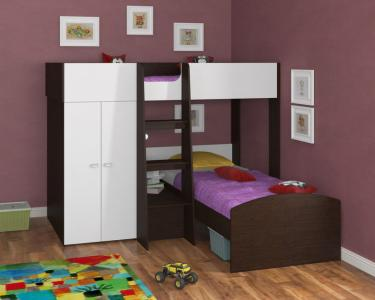 Двухъярусная кровать Golden Kids 4 (венге/белый)