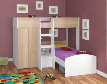 Двухъярусная кровать Golden Kids 4 (белый/дуб сонома)