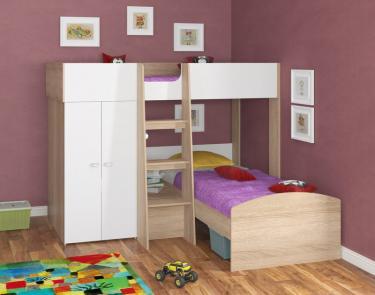 Двухъярусная кровать Golden Kids 4 (дуб сонома/белый)