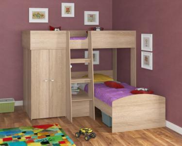 Двухъярусная кровать Golden Kids 4 (дуб сонома)