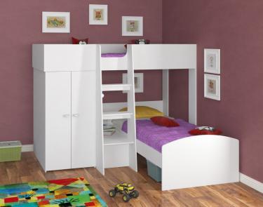 Двухъярусная кровать Golden Kids 4 (белый)