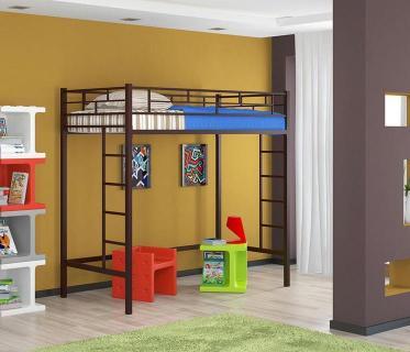 Кровать-чердак Амстердам-2 коричневый