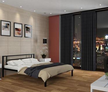 Двуспальная кровать Титан черный