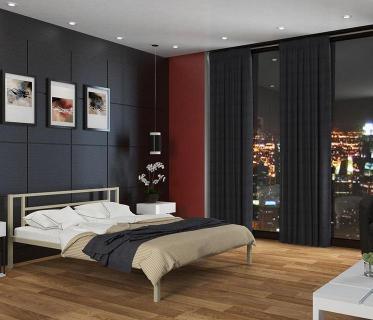 Двуспальная кровать Титан слоновая кость