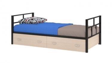 Односпальная металлическая кровать Арга с ящиками