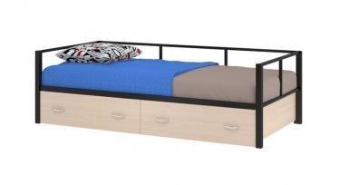 Односпальная металлическая кровать Арга - диван с ящиками