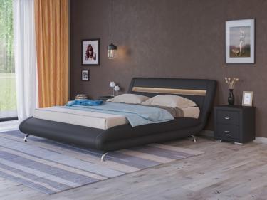 Кровать Corso-7 с орт. основанием (Черный)