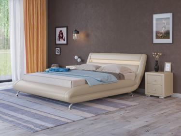 Кровать Corso-7 с орт. основанием (Бежевый перламутр)