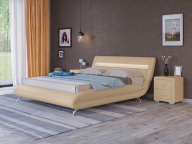 Кровать Corso-7 с орт. основанием (Бежевый)
