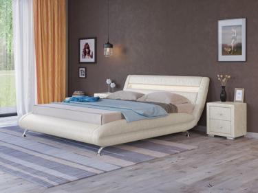 Кровать Corso-7 с орт. основанием (Жемчуг)