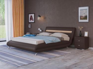 Кровать Corso-7 с орт. основанием (Коричневый)