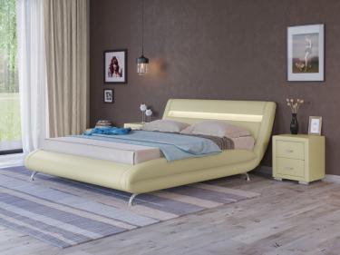 Кровать Corso-7 с орт. основанием (Кремовый)