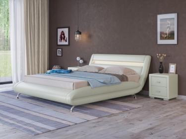 Кровать Corso-7 с орт. основанием (Молочный перламутр)