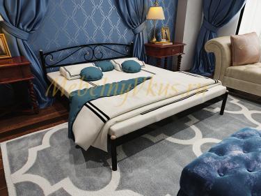 Двуспальная металлическая кровать Optima (Оптима) с орт. основанием