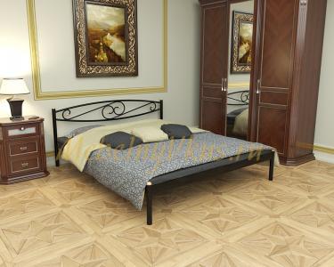Двуспальная металлическая кровать Wave (Волна)