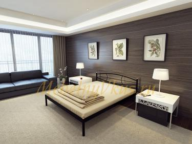 Двуспальная металлическая кровать AURA (Аура)