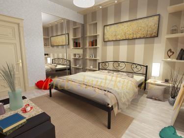 Двуспальная металлическая кровать DARINA (ДАРИНА)