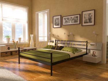 Двуспальная металлическая кровать ECSPO (ЭКСПО)