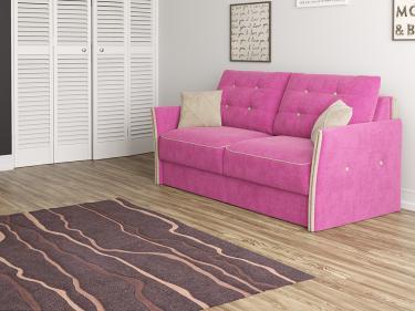 Диван Synergy Compact (Soft 20 Розовый/Soft 2 Светло-бежевый)
