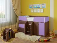 Кровать-чердак Астра 5 (шамони/фиолетовый)