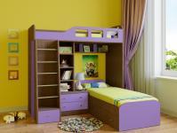 Двухъярусная кровать Астра 4 (шамони/фиолетовый)