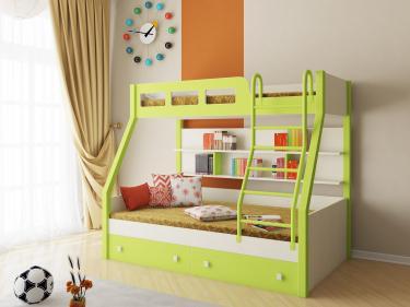 Двухъярусная кровать Рио (салатовый)