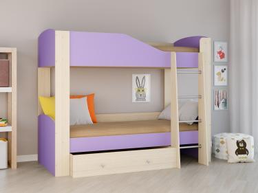 Двухъярусная кровать Астра 2 фиолетовый