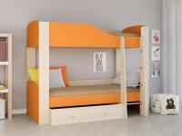 Двухъярусная кровать Астра 2 оранжевый