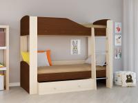 Двухъярусная кровать Астра 2 орех