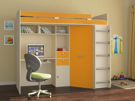 Кровать-чердак Астра оранжевый