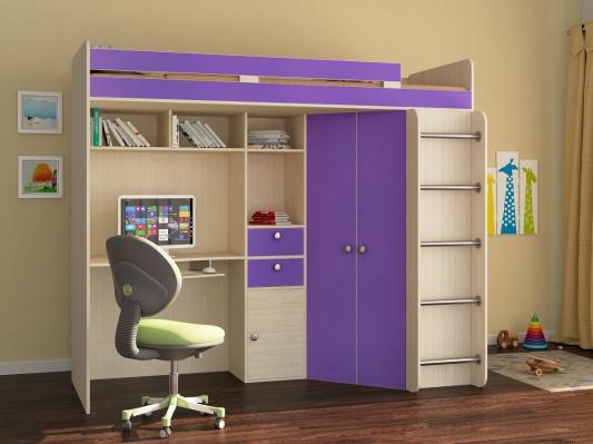 Кровать-чердак Астра фиолетовый