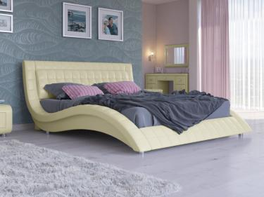 Кровать Атлантико Экокожа (кремовый)