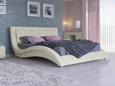 Кровать Атлантико Велюр (Лофти лён)