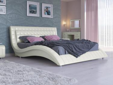 Кровать Атлантико Экокожа (молочный перламутр)