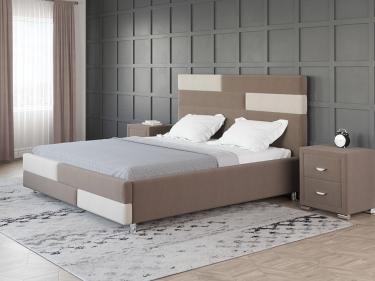 Кровать Marco (Лама Шоколад + Лама Лён)