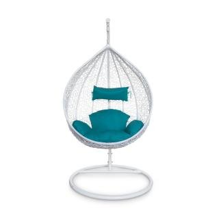 Подвесное кресло KVIMOL KM 0031 с бирюзовой подушкой