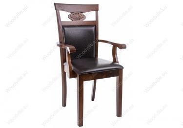 Кресло Luiza dirty oak / dark brown
