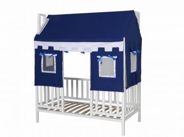 Кровать детская  Домовёнок-1 (со шторками)