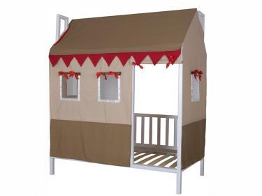 Кровать детская Домовёнок-2 (со шторками)