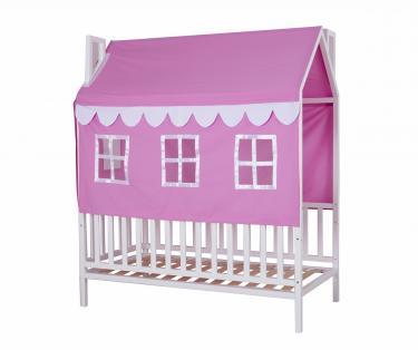 Кровать детская Домовёнок-3 (со шторками)
