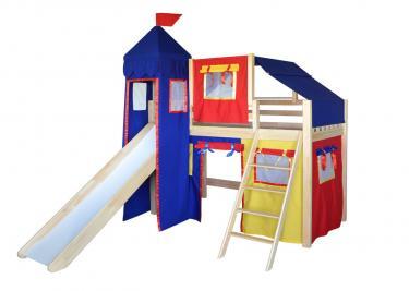 Кровать детская Рыцарь-1 (со шторками)