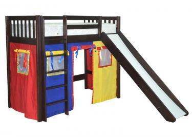 Кровать детская Трубадур (со шторками)
