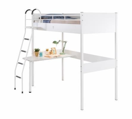 Кровать-чердак со столом WHITE 1402 Compact